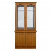 Lichfield Teak 2 Door Display Unit