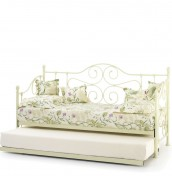 Florence Ivory Metal Day Bed
