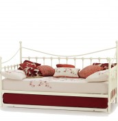 Marseille Ivory Metal Day Bed