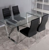 Puccini Glass Dining Table and Chairs