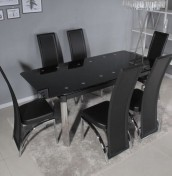 Olivato Glass Extending Dining Set