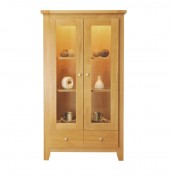 Florida Oak 2 Door Display Cabinet