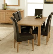 Florida Oak Extending Dining Table and Chairs