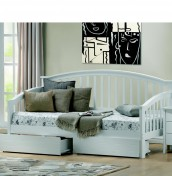 Polo White Day Bed - Optional Drawers