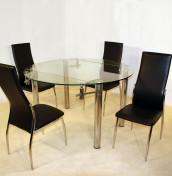 Romano Glass Extending Dining Table and Chairs