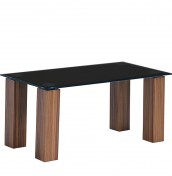 Mattia Black Glass Coffee Table