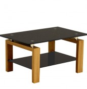 Winston Black Glass Coffee Table