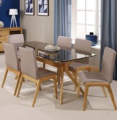 Fino Glass Top Dining Table and Chairs