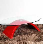 Duchamp Glass Coffee Table