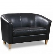 Hepworth Faux Leather 2 Seater Tub Sofa