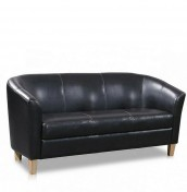 Hepworth Faux Leather 3 Seater Tub Sofa