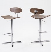 Marilyn Walnut Gas Lift Bar Stool