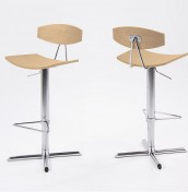 Marilyn Oak Gas Lift Bar Stool
