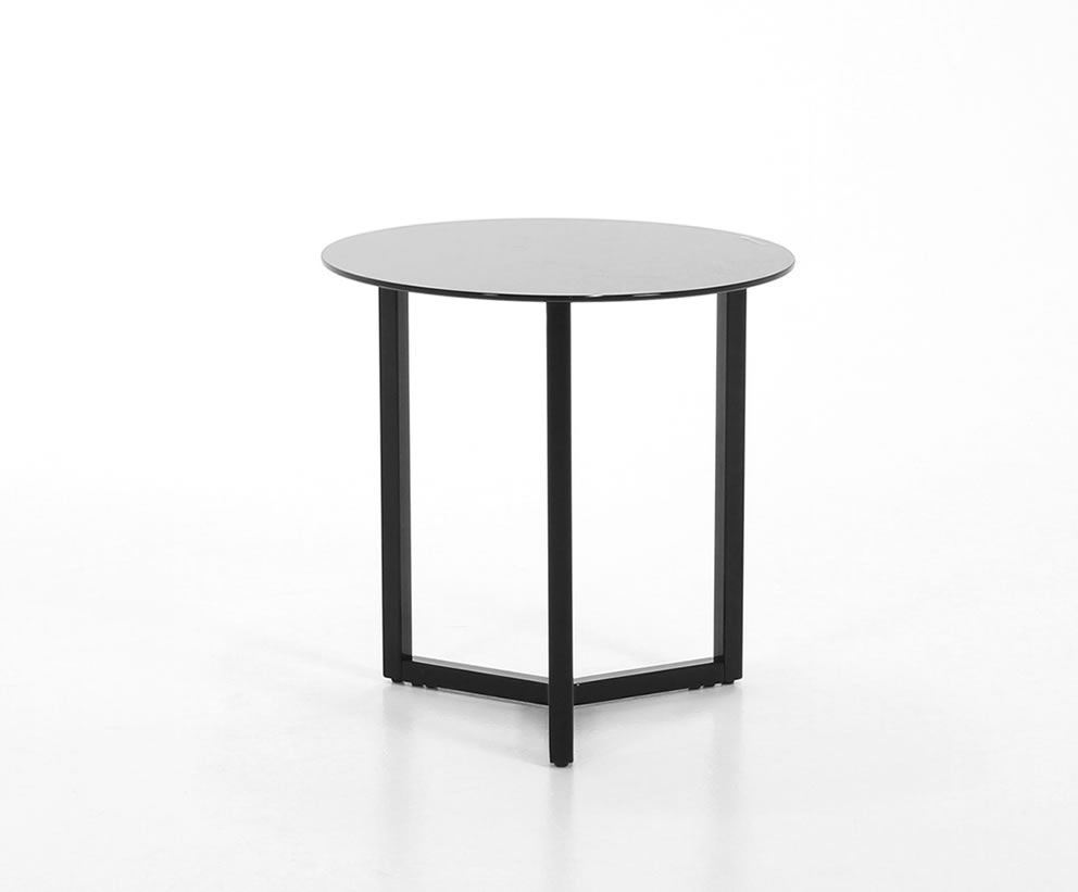 Small Black Glass Tables
