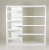 Everest White High Gloss Open Display Unit