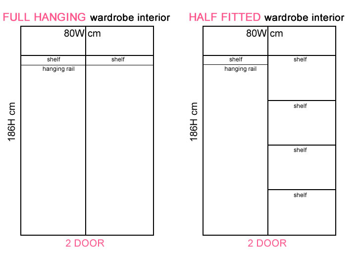Boston 2 Door Contract Wardrobes