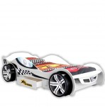Sleep Racer White Car Bed