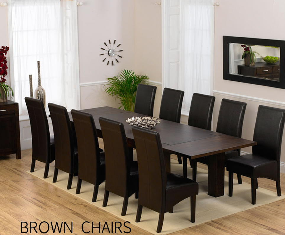 Murcia Dark Oak Extending Dining Table And Chairs UK
