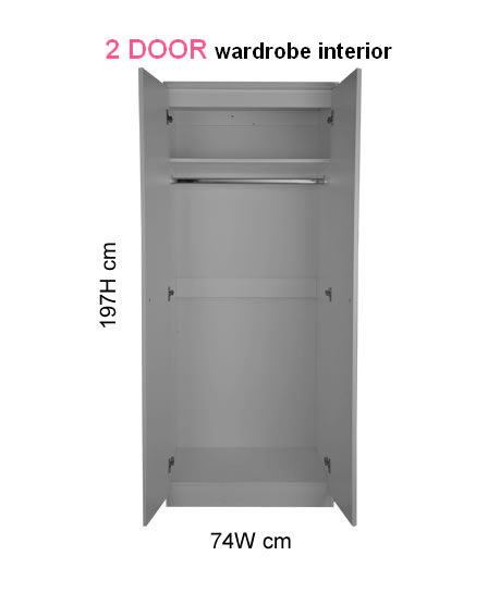 New Sherwood 2 Door Wardrobe