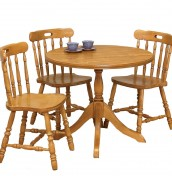 Lullingston Oak Round Breakfast Set