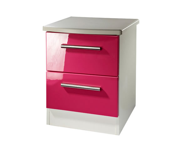 Kati Pink Girls 2 Drawer Bedside Chest