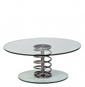 Kelso Large Round Glass Coil Coffee Table