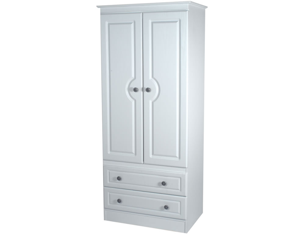 snowdon 2 door 2 drawer tall narrow wardrobe in various