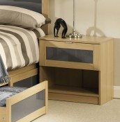 Allegro Oak and Grey Gloss Nightstand