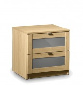 Allegro Oak and Grey Gloss Bedside Chest
