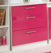Kati Pink Girls 3 Drawer Deep Chest