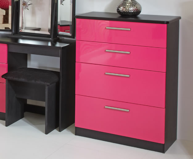 Kati Pink Girls 4 Drawer Deep Chest