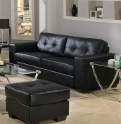 Laguna Black 3 Seater Bonded Leather Sofa