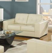 Laguna Ivory 2 Seater Bonded Leather Sofa
