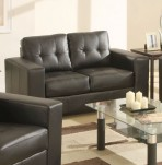 Laguna Brown 2 Seater Bonded Leather Sofa