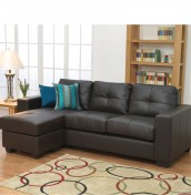 Laguna Brown Bonded Leather Corner Sofa