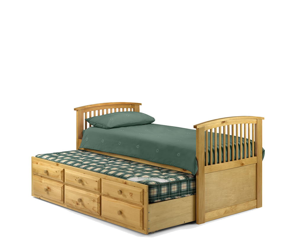 hornblower white cabin bed with trundle bed and storage
