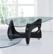Quebec Black Base Glass Coffee Table