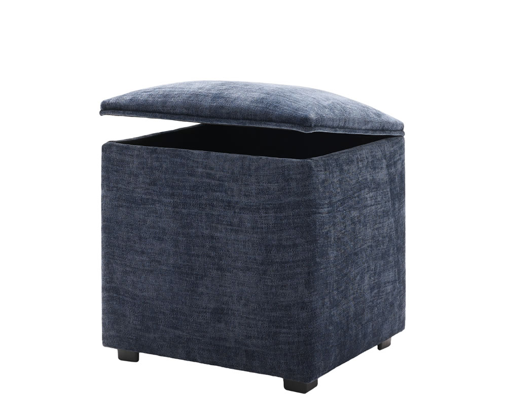 Kingsley Small Upholstered Ottoman, Fabric Options