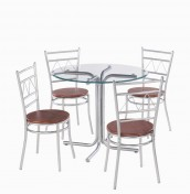 Appleby Round Glass Breakfast Table and Chairs