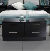 Knight Black High Gloss 4 Drawer Bed Box