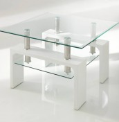 Parma White Glass Lamp Table