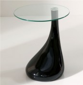 Galder Black High Gloss Lamp Table