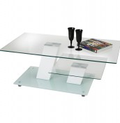 Bexlam White Glass Coffee Table