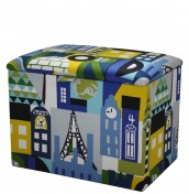 Around The World Upholstered Toy Box