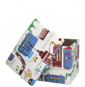 City Life Upholstered Toy Box
