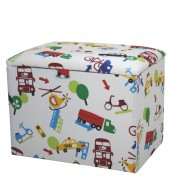 Travel Childrens Upholstered Toy Box