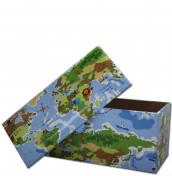 World Map Wipe Clean Toy Box