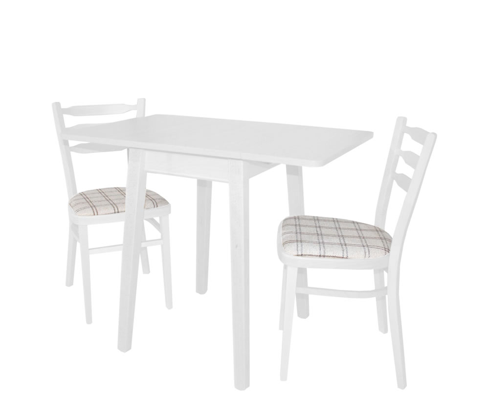 Kayleigh White Small Drop Leaf Table Fast UK Delivery