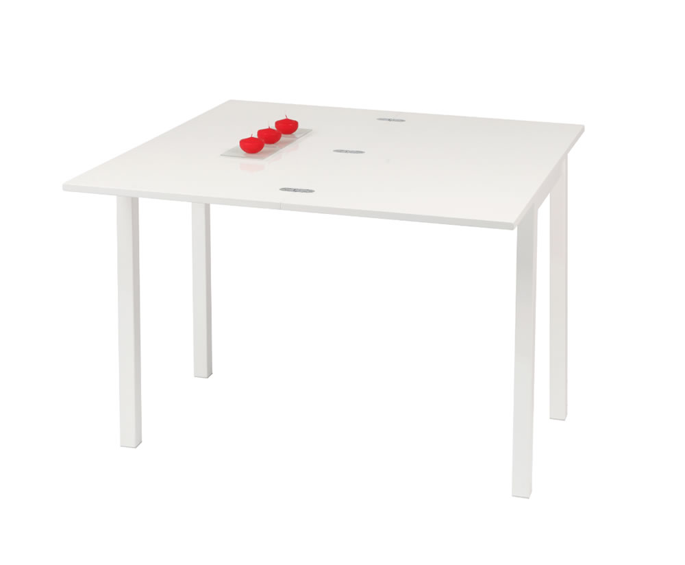 Aleyna White Gloss Flip Top Dining Table And Chairs