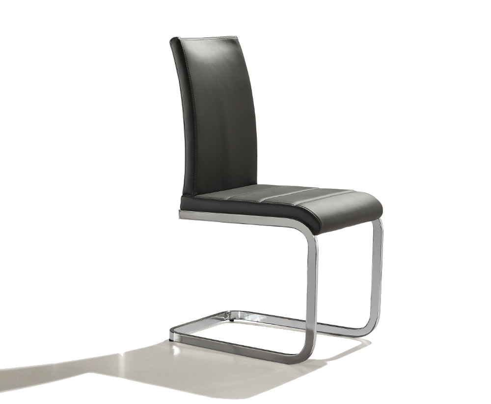 anwick grey faux leather side dining chair